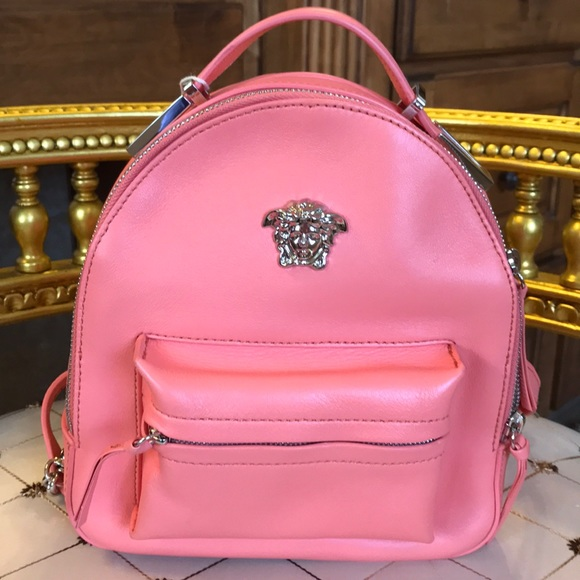 ecaa1fa63c Versace Medusa Mini Backpack Coral Color NWT